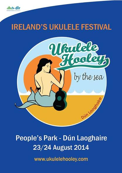 Ukulele Hooley 2014 blue poster